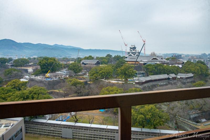 熊本市役所から見る熊本城